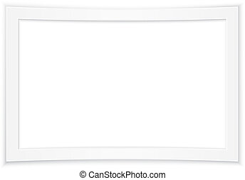 Blank white photo frame, vector ill