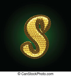 vector golden letter