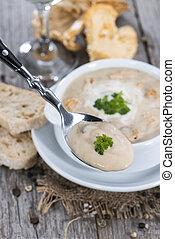 Fresh made Chanterelle Cream Soup - Homemade Chanterelle...