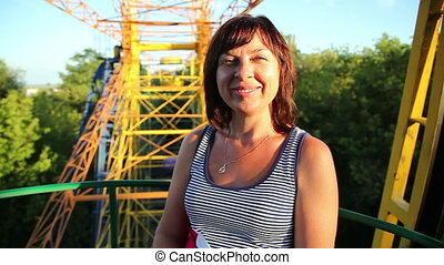 woman on a Ferris wheel