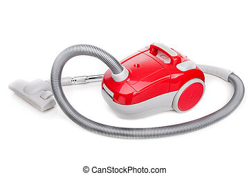 Vacuum cleaner for modern house cleaning On a white...