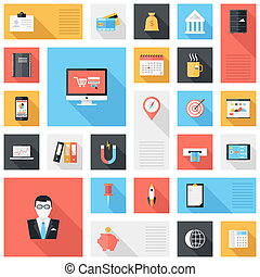Business icons - Vector collection of modern, simple, flat...