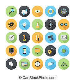 Seo icons - Vector illustration of modern, simple, flat seo...