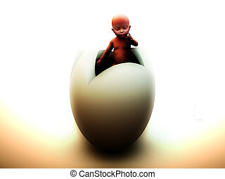 Baby Egg - A image representing possible future advances in...