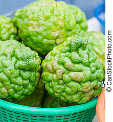 Bergamot in local street market