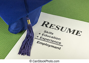 Successful Employment Concept With Desired Resume Formula -...