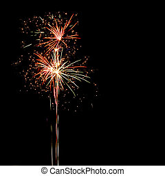 Firework isolated on black background with place for your...