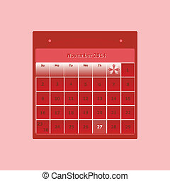 Design schedule monthly november 2014 calendar, stock vector