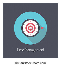 Time management illustration concept - Flat design modern...