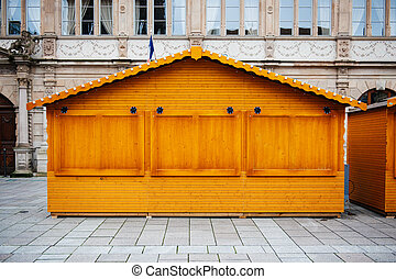 Wooden hut - New wooden hut in a public square ready to sell...