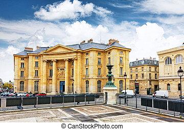 Paris University (Faculty of Law) near the Pantheon. Paris. France