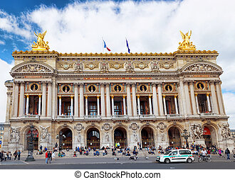 PARIS - SEPTEMBER 18:Palais or Opera Garnier and The...
