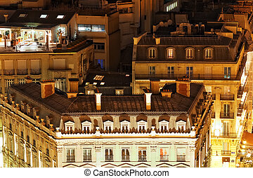 View of Paris from the Arc de Triomphe. Paris. France. -...