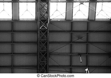Roof structure - The photography of a roof structure which...