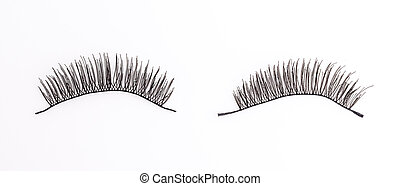 Eyelash on isolated white background