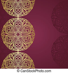 semicircle ornament. - semicircle ornament with space for...