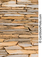 Stone cladding - Full frame take of a natural stone facade...
