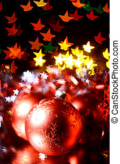 holiday gifts over the warm stars background