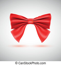 Red festive bow