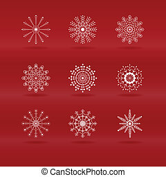 Set of snowflakes in vector