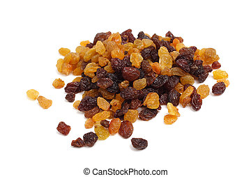 raisins - Brown raisins isolated on white background