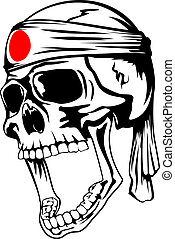 skull kamikaze - Vector illustration of skull of kamikaze...