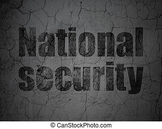 Safety concept: National Security on grunge wall background
