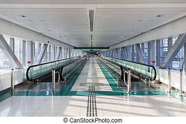 Interior metro station in Dubai UAE - DUBAI, UAE - NOVEMBER...
