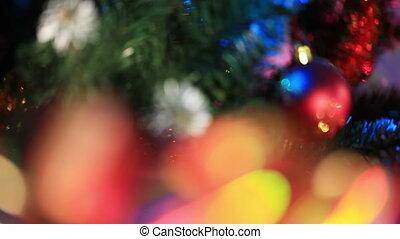 Ribbon on Christmas gifts