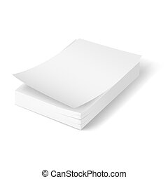 Stack of blank papers. - Stack of blank papers with first...