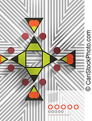 Geometric shape abstract background for business,...