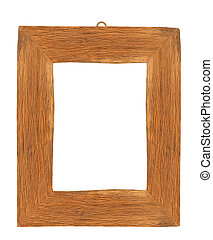 picture frame - wood picture frame isolated on white