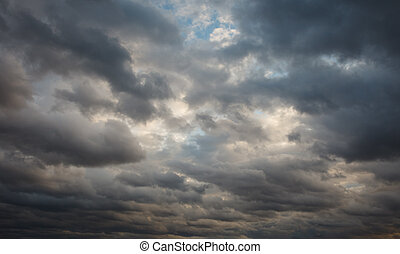 Natural background: stormy sky - Natural background:...