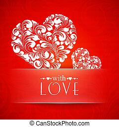 Happy valentines greeting card.