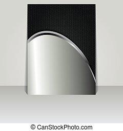 Brochure card banner metal-vector
