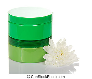 Containers of a different cosmetic creams