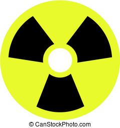Nuclear sign on white background