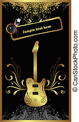 Golden base guitar