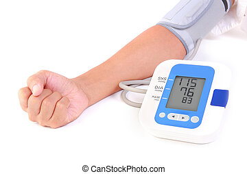 sphygmomanometer - person is using sphygmomanometer for...