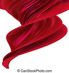 Red cloth - Abstract red background