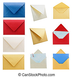 Stationery collection 1, envelopes. - Hi res collection of...