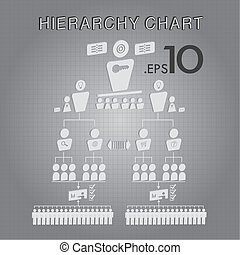 Organizational Hierarchy Chart Vector