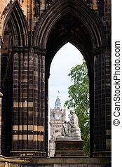Scott Monument - Victorian gothic monument to Scottish...