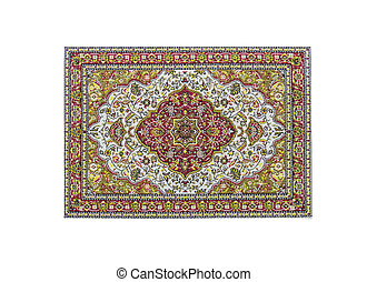 carpet - turkish carpet isolated on white