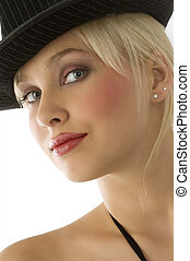 cute blond girl - nice close up of beautiful blond girl with...