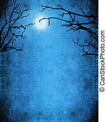 nocturne mistery background - nocturne background with trees...