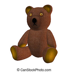 Teddy Bear - 3D digital render of a childrens toy teddy bear...