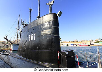 old retired military submarine for scrapping