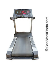 treadmill - The image of treadmill isolated under the white...