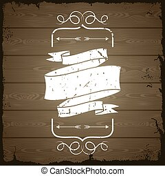 Wooden texture background with chalk labels and dividers